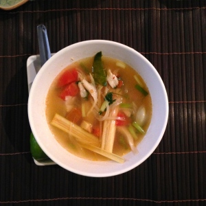 tom yum soup -- very mildly spiced (: