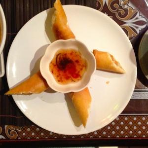 veggie fried spring rolls - very similar to vietnamese ones!