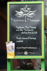there are countless thai massage parlors in chiang mai, but here's one we found right by one of the local outdoor markets