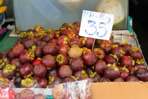mangosteens galore! one of the only fruits i can eat (: